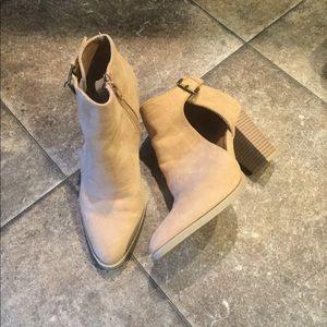 Booties with 3-4 inch heel